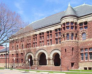 Harvard Law School, Photograph of front facade, Austin Hall
