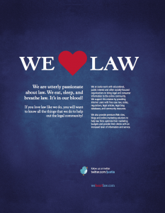 We Heart Law Brochure
