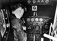 Amelia Earhart / courtesy of the National Archives