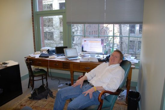 Kevin O'Keefe at the LexBlog Offices