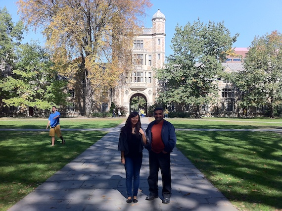 Anna and Soby at Michigan Law School