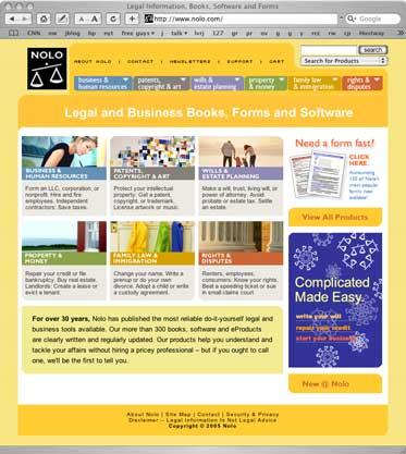 New Nolo.com Web site
