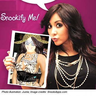 "Snooki's ""Snookify Me"" app for iPhone and Android"