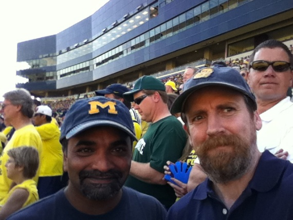 Tim and Soby at Michigan Stadium