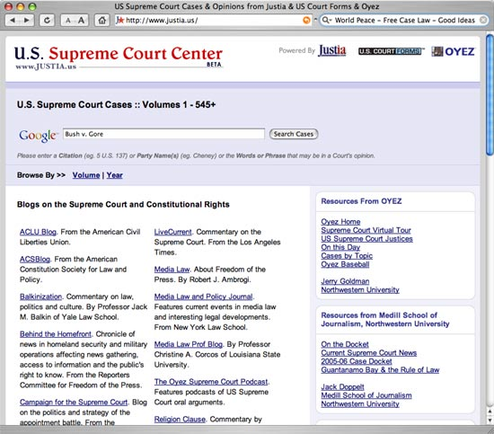US Supreme Court Center - All the Cases